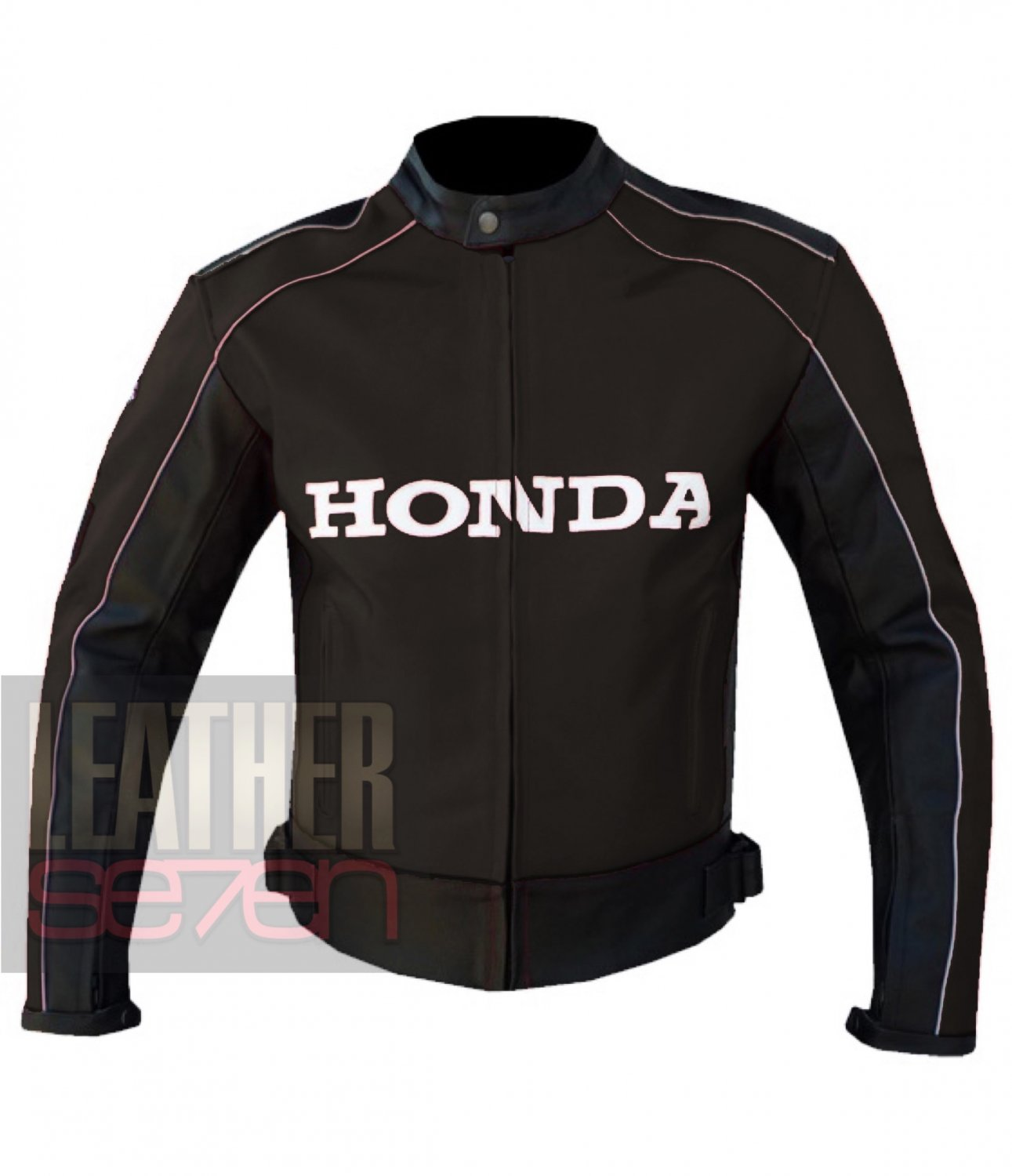 Honda 5523 Brown Excellent Arrival Cowhide Leather Bike Safety Racing Jacket
