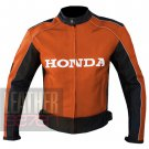Outstanding Quality Cowhide Leather Motorcycle Safety Jacket ... Honda 5523 Orange