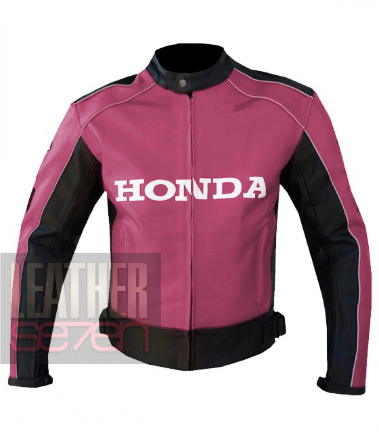 New Excellent Arrival Genuine Cowhide Leather Honda 5523 Pink Jacket For Ladies