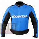 New Excellent Arrival Pure Cowhide Leather Motorbike Jacket ...   Honda 5523 Sky Blue