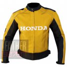 New Arrival Cowhide Leather Safety Racing Jacket Honda 5523 Yellow By ButtCo Group