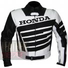 Honda 9019 Black Pure Excellent Cowhide Leather Racing Safety Jacket For Bikers