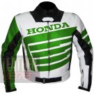 Outstanding Cowhide Leather Safety Racing Jacket ... Honda 9019 Green Coat