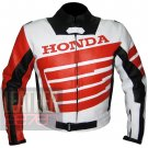 Best Quality Cowhide Leather Safety Racing Jacket ... Honda 9019 Orange Coat