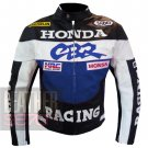 Best Quality Pure Cowhide Leather Safety Racing Jacket ... Honda CBR Blue