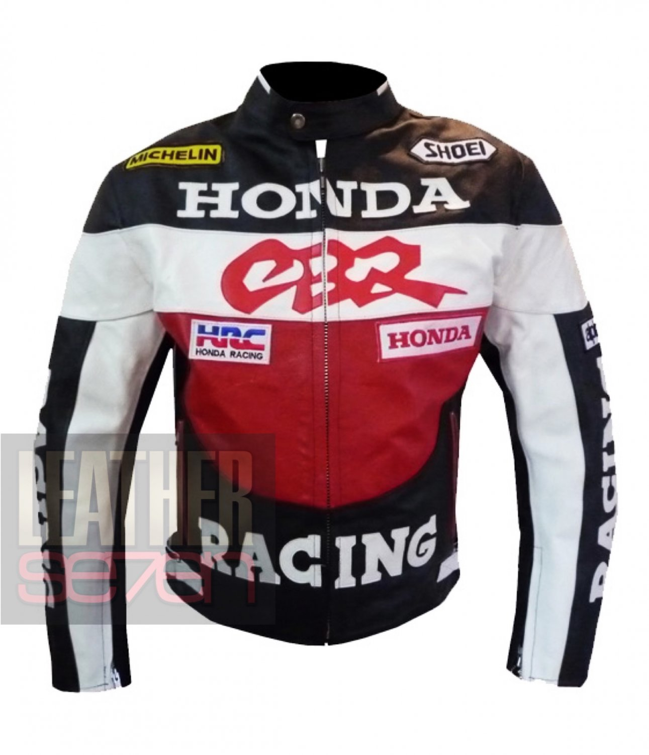 Honda CBR Original Pure Cowhide Leather Safety Racing Jacket By ButtCo Group