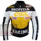 New Arrival Cowhide Leather Safety Racing Jacket ... Honda CBR Yellow Coat