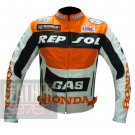 Honda GAS Repsol Orange Pure Cowhide Leather Jacket By ButtCo Group