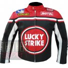 Luck Strike 0113 Red Best Quality Cowhide Leather Safety Racing Jacket For Bikers