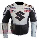 New Outclass Cowhide Pure Leather Safety Racing Jacket .. Suzuki 4269 Gun Metal