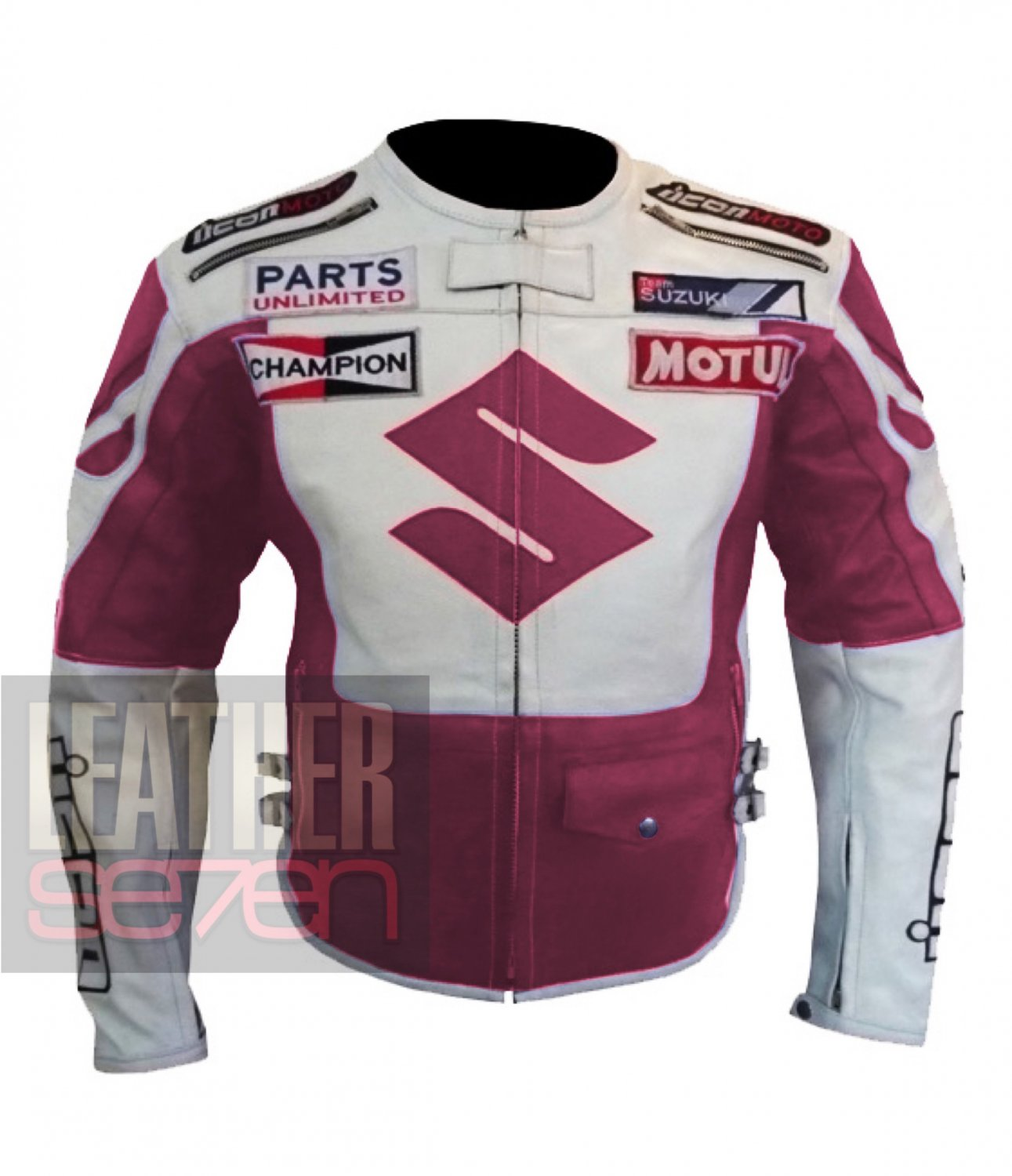 Suzuki 4269 Pink Pure Outclass Cowhide Leather Jackets For Professional Ladies Bikers