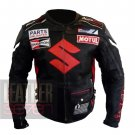 Suzuki Icon 4269 Black Pure Cowhide Leather Safety Racing Jacket By ButtCo Group