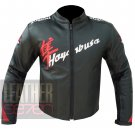 Suzuki 4292 Hayabusa Black Pure Cowhide Leather Racing Safety Jacket