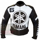 Best Quality Outclass Cowhide Leather Safety Racing Yamaha 6 Brown Leather Jacket