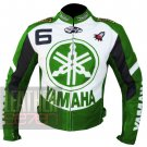Best Arrival Of Pure Cowhide Leather Safety Racing Yamaha 6 Green Jacket For Bikers