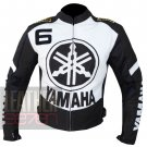 Outclass Arrival Pure Cowhide Leather Safety Racing Jacket Yamaha 6 Gun Metal