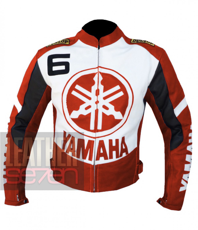 Yamaha 6 Orange Best Cowhide Leather Safety Racing Jacket For Bike Riders