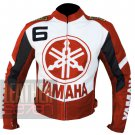 Yamaha 6 Orange Best Cowhide Leather Safety Racing Jacket For Bike Riders