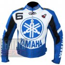 New Arrival Pure Cowhide Leather Safety Jacket .. Yamaha 6 Sky Blue Coat