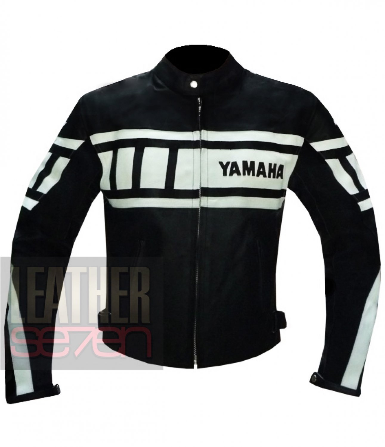 Yamaha 0120 Black Classic Cowhide Leather Safety Jacket For Professional Bikers