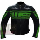 New Arrival Safety Winter Pure Cowhide Leather Racing Jacket Yamaha 0120 Green