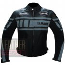 Yamaha 0120 Grey Genuine Cowhide Leather Safety Jacket For Professional Bikers