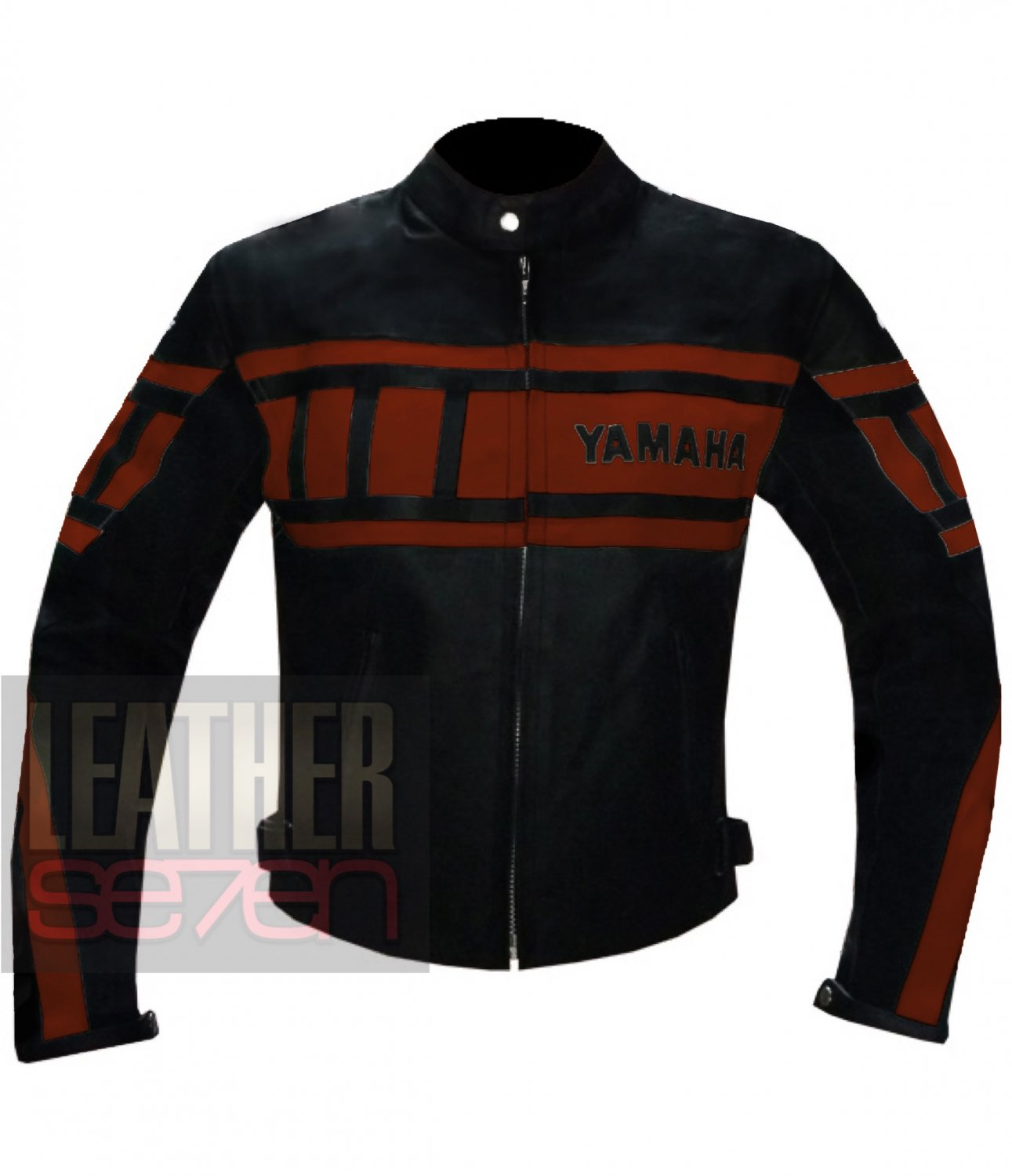 Pure Genuine Cowhide Racing Leather Jacket ... Yamaha 0120 Orange Coat