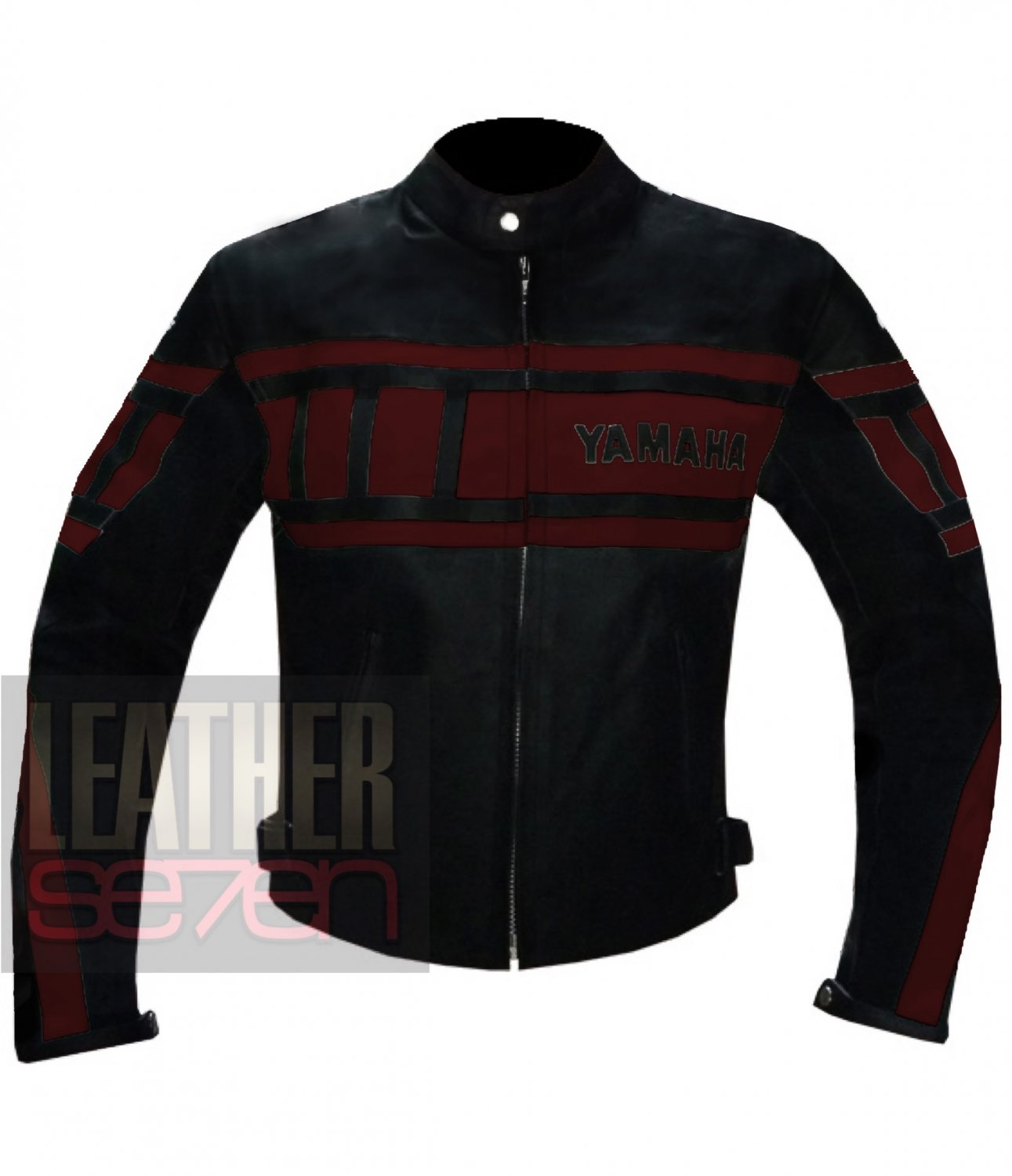 Best Quality Pure Cowhide Racing Leather Jacket .. Yamaha 0120 Red Coat