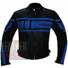 Yamaha 0120 Sky Blue Pure Genuine Cowhide Leather Racing Jackets For Bikers