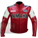 Motorcycle Riding Apparel Pure Cowhide Leather Jackets ... Yamaha 0820 Red