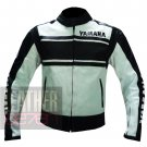 Yamaha 5241 Black Pure Cowhide Leather Racing Jacket For Professional Bikers