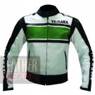 Pure Cowhide Safety Leather Racing Jackets .. Yamaha 5241 Green Coat
