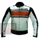 New Men's Fashion Cowhide Leather Safety Jackets .. Yamaha 5241 Orange