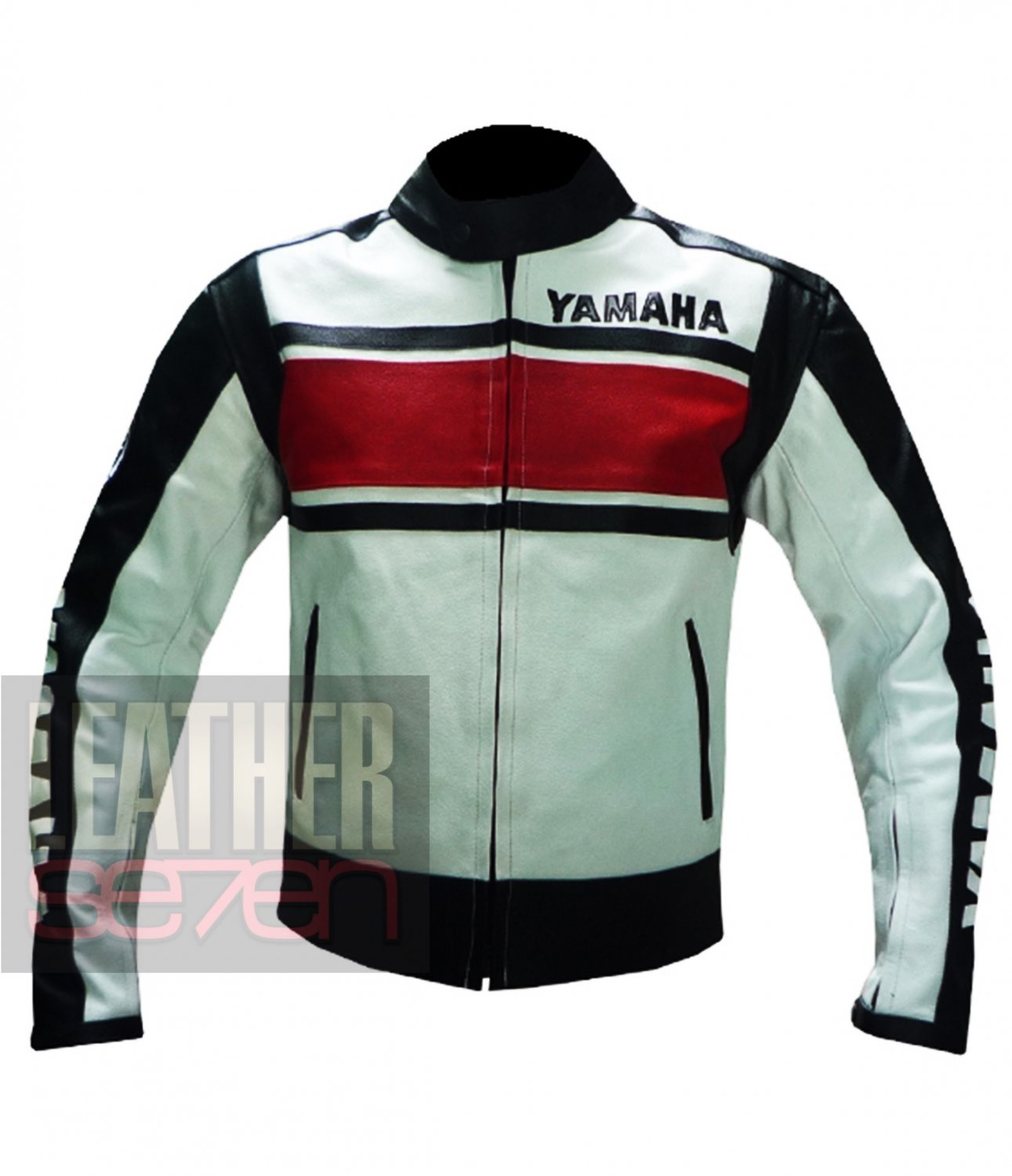 Pure Cowhide Leather Racing Jacket Yamaha 5241 Red By Buttco Group For Bikers
