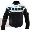 Yamaha 6728 Black & White Genuine Cowhide Leather Racing Jackets For Bikers