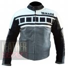 Best Quality Jackets For Professional Racers .. Cowhide Leather Yamaha 6728 Grey