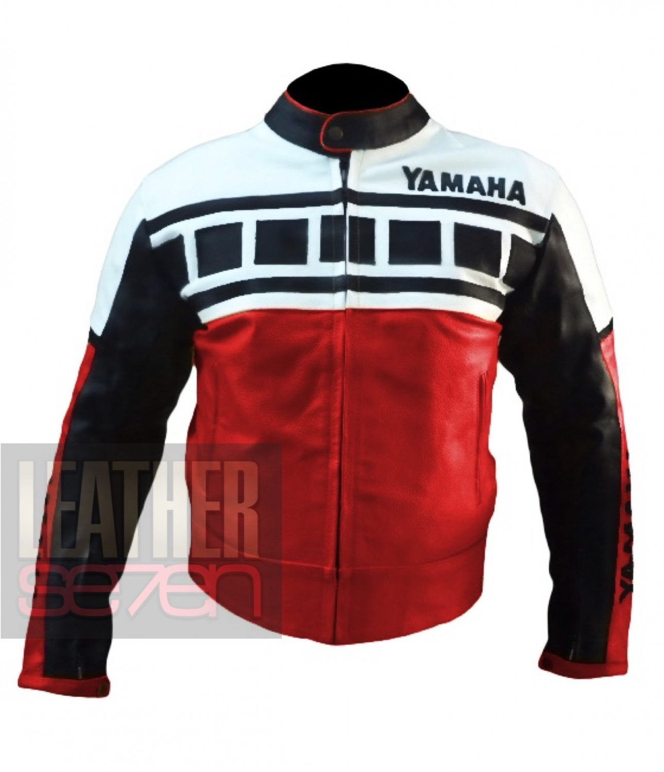 New Best Arrival Of Cowhide Leather Motorbike Jacket . Yamaha 6728 Red