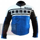 Yamaha 6728 Sky Blue Pure Cowhide Leather Racing Jacket By ButtCo Group