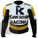 Kawasaki 1 yellow  Pure Cowhide Genuine Leather Jackets For Bikers From ButtCo Group