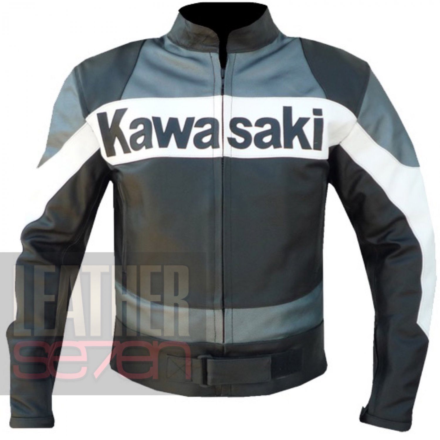 Mesh Cowhide Pure Armour Jacket . Kawasaki 2020 Grey Motorbike  Coat