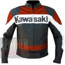 Motorcycle Riding Jackets Kawasaki 2020 Orange Pure Cowhide Leather