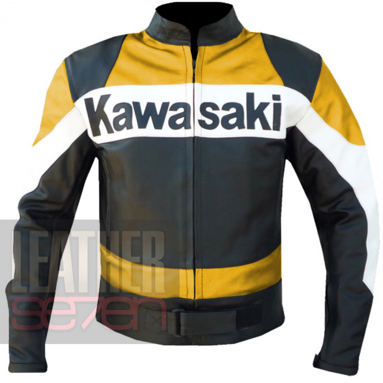 Kawasaki 2020 yellow Pure Cowhide Leather Jacket By ButtCo Group