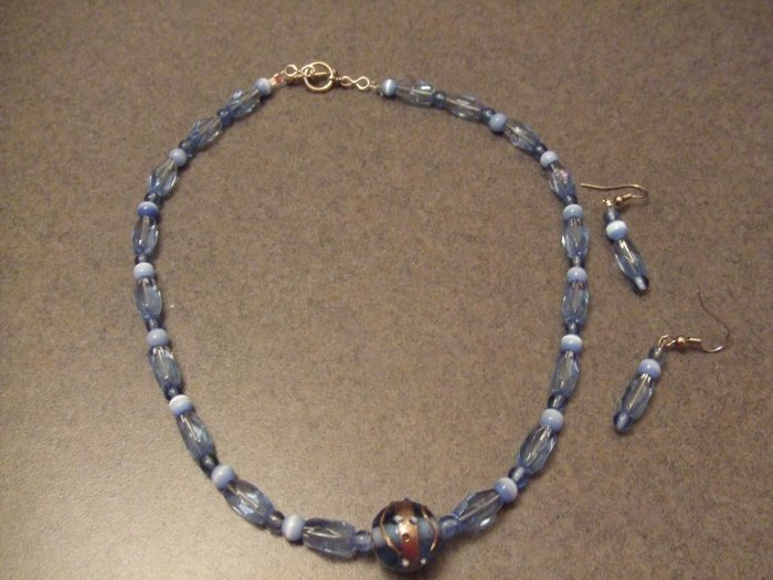 Light Blue charm necklace