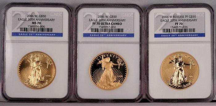american eagle anniversary set gold