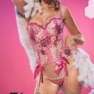 2 Piece Rose Sequinned and Embroidered Bustier Set