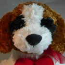 "Best Made Toys Plush 14"" Valentine White and Brown Puppy Dog I Love You Heart Boys & Girls"