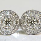 █$23500 5.75CT DIAMOND CLUSTER CIRCULAR FLUSH & PAVE CUFFLINKS 14KT EXECUTIVE █