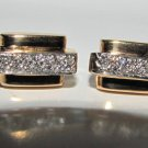 █1.00ct. DIAMOND GENTS BAR/STICK CUFFLINKS█14KT XCELENT