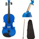 New 1/10 Size Student Violin With Case, Bow and Rosin~Blue