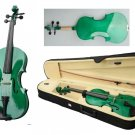 New 1/10 Size Student Violin With Case, Bow and Rosin~Green